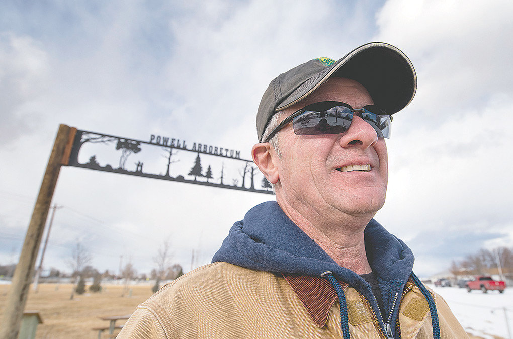City Arborist Del Barton has been closely monitoring the progress of the Powell Arboretum, which is a 10-year research project on what trees do best in the area's climate. He's helping launch a new effort that's aimed on rejuvenating Powell's aging tree population.
