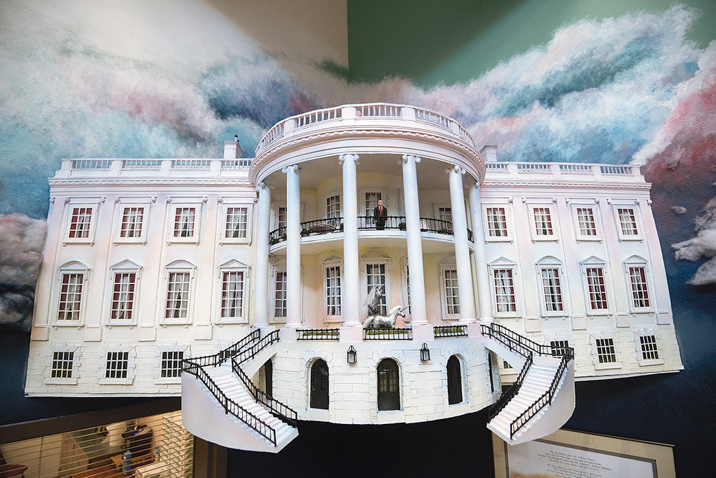 This White House created by PHS art students drew the attention of President Donald Trump, who said he recently learned about the time they've 'dedicated to building tremendous replicas of some of our Nation's most iconic and historic sites.'