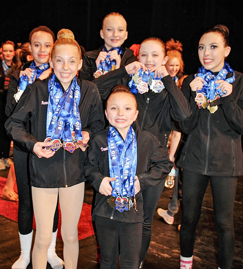 Members of Victoria's School of Dance show off their hardware following an impressive showing at the 2019 Big Sky State Games in Billings.