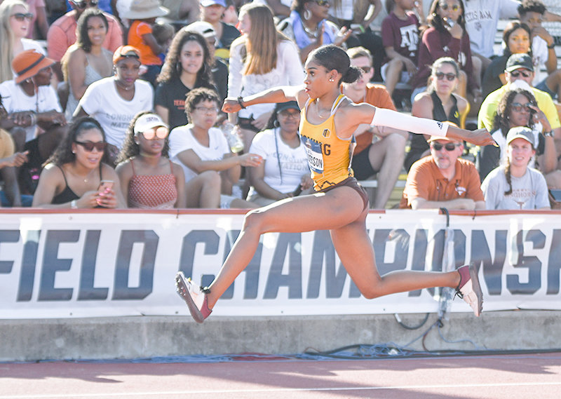 UW Cowgirl Ja'la Henderson placed 10th in the triple jump nationally, earning All-America honors. She tied a school record with her fifth career All-America honor.