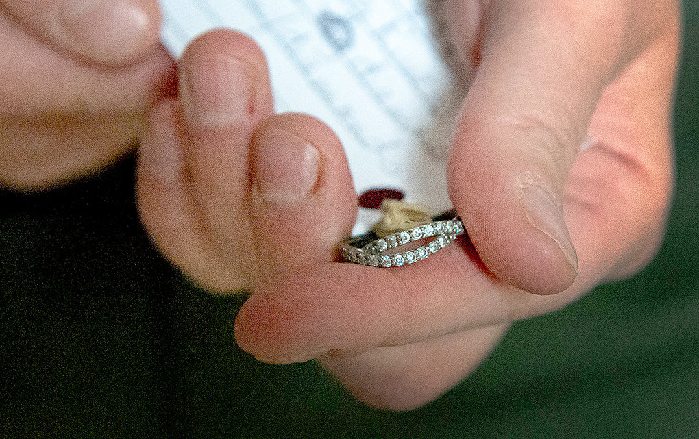 A diamond ring, lost in Yellowstone National Park was turned into lost and found. Jewelry is commonly lost in the park.
