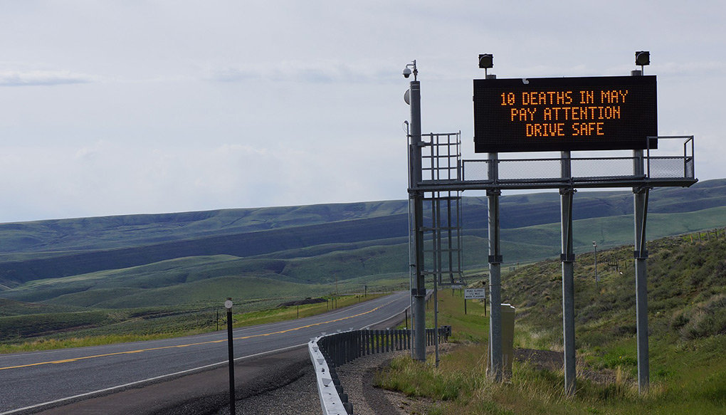 New digital message signs like this one, located on South Pass, will be installed along highways around northwest Wyoming.