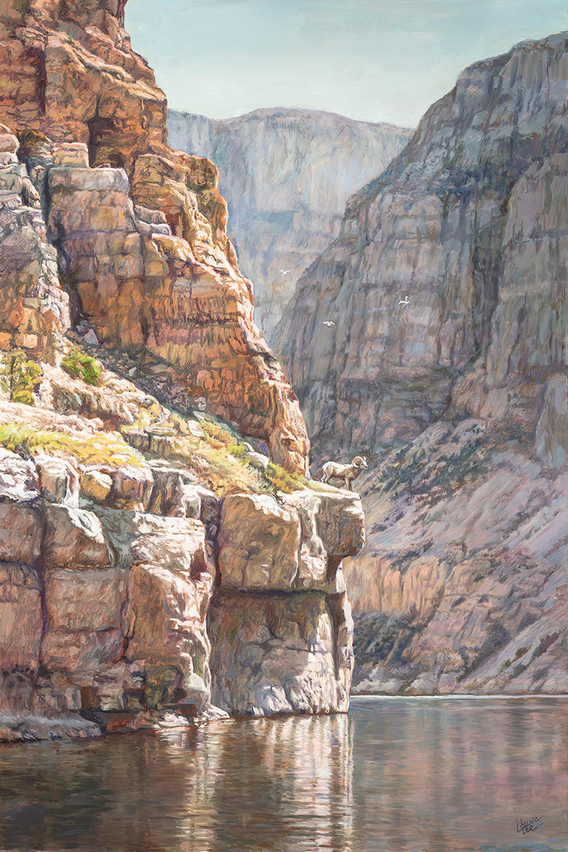 'Cliffhanger' by Laurie Lee will be featured at next week's Buffalo Bill Art Show and Sale in Cody.