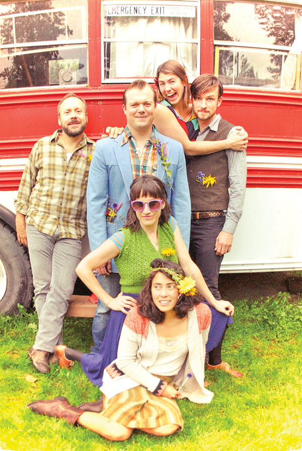 The Super Saturated Sugar Strings will bring their 'back-beat-americana-meets-chamber-ensemble sound' to Washington Park for a Friday night concert.
