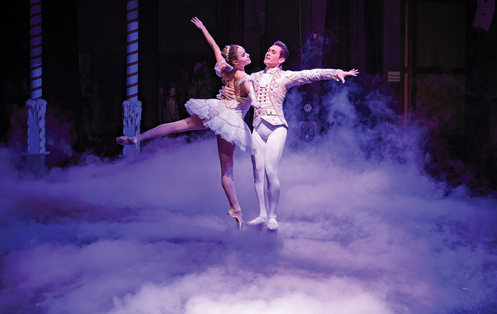 Natalia Magnicaballi and Michael Cook perform the roles of the Cavalier and Sugar Plum Fairy in 2018, in what was their finale at the Rocky Mountain Dance Theatre's Nutcracker Ballet. Two new guest artists — Randy Pacheco and Sasha Vincett — are taking over the roles this year. TIckets go on sale Friday.
