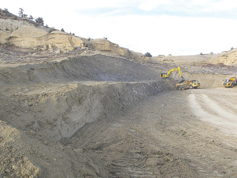 Crews move soil at Kanye West's ranch south of Cody earlier this month, in anticipation of building a large meditation space. Park County planning officials are currently reviewing plans for the project.