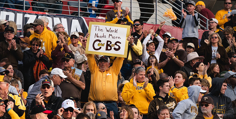 Some 10,000 University of Wyoming fans flocked to Tucson to support the Cowboy football team at last week's NOVA Home Loans Arizona Bowl. The game aired on CBS Sports Network.