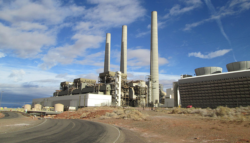 The coal-fired Navajo Generating Station in northern Arizona closed in November.