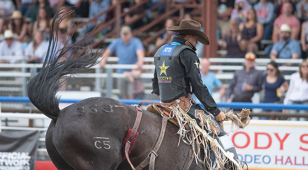 Canadian Zeke Thurston had one of the top performances during the Fourth of July edition of the Cody Stampede Rodeo, finishing second overall in saddle bronc riding. Tuf Cooper was named the weekend's all-around cowboy for his success in tie-down roping and steer roping.
