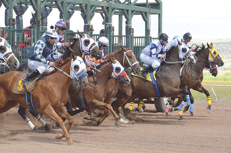 Historic Horse Racing Terminals could be coming to Park County, if voters approve pari-mutuel betting. Some of the proceeds from the machines are used to host live horse races at several tracks around the state, including in Evanston (pictured here), while other proceeds go to local governments.