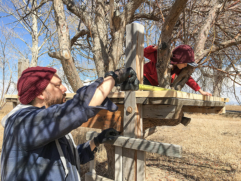 When schools closed due to the COVID-19 pandemic in March, Oliver and Spencer worked together to build a treehouse when the weather was nice. They recently finished the project. Oliver is a third-grader at Parkside Elementary School.
