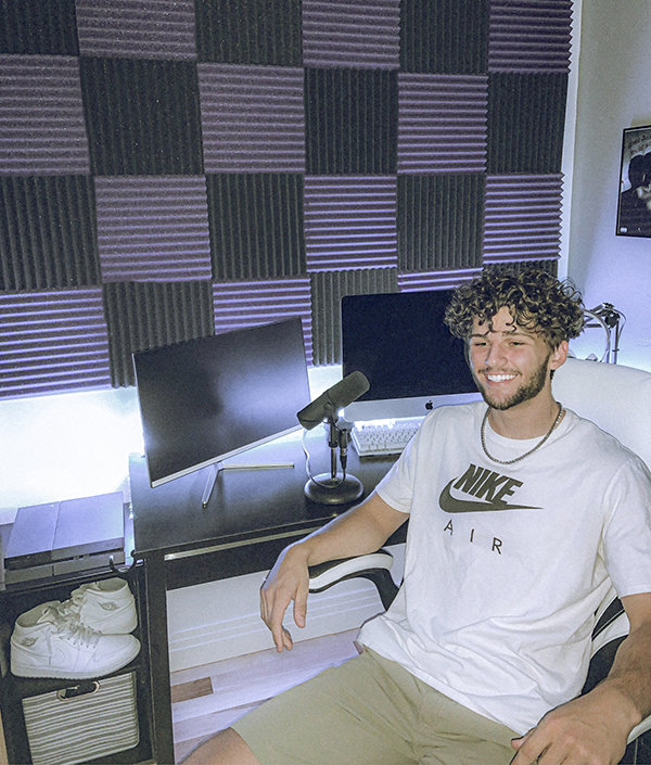 Jaren Fritz, whose song 'Tupperware' has more than 32,000 plays on SoundCloud, has a studio built into his Northwest College dorm room. The college sophomore plans on dropping new music in the near future.