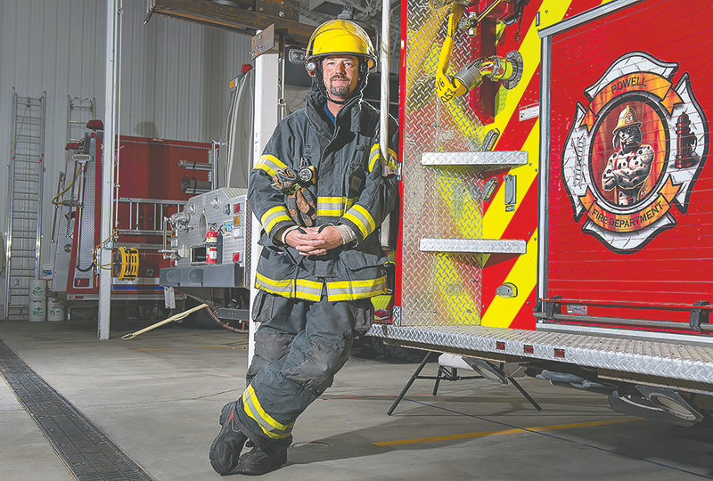Powell Volunteer Fire Department firefighter Tommy May was selected as the state firefighter of the year by the American Legion for his efforts to help those in need through the pandemic.