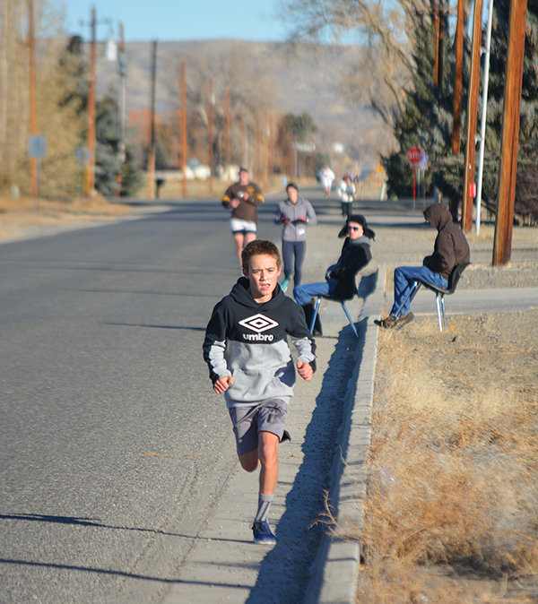 Participants in the 2020 Turkey Trot ran north up Panther Boulevard/Road 8 before heading back south to the finish line at Powell High School. Breaton Clark posted the top time among those 13 and under who ran the 5K.