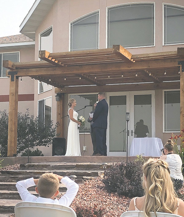 Lisa and Clay Lynn said 'I do' during an August ceremony, held at Joy Bessler's home outside of Powell. The venue offers options for both indoor and outdoor events.