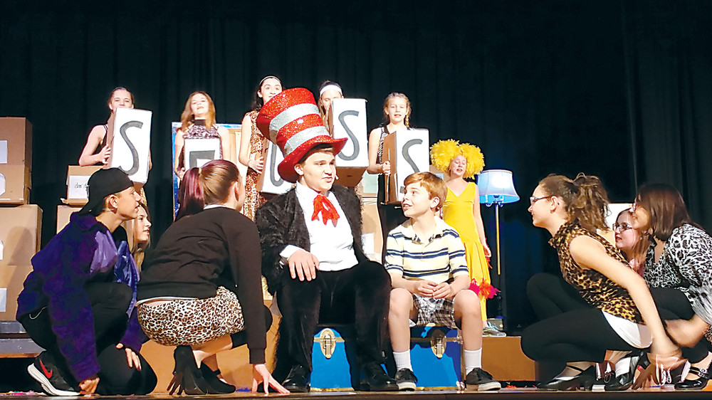 """Jordan Knaub is the Cat in the Hat in the Middletown Area Middle School production of """"Seussical Jr.,"""" which will be presented this weekend."""