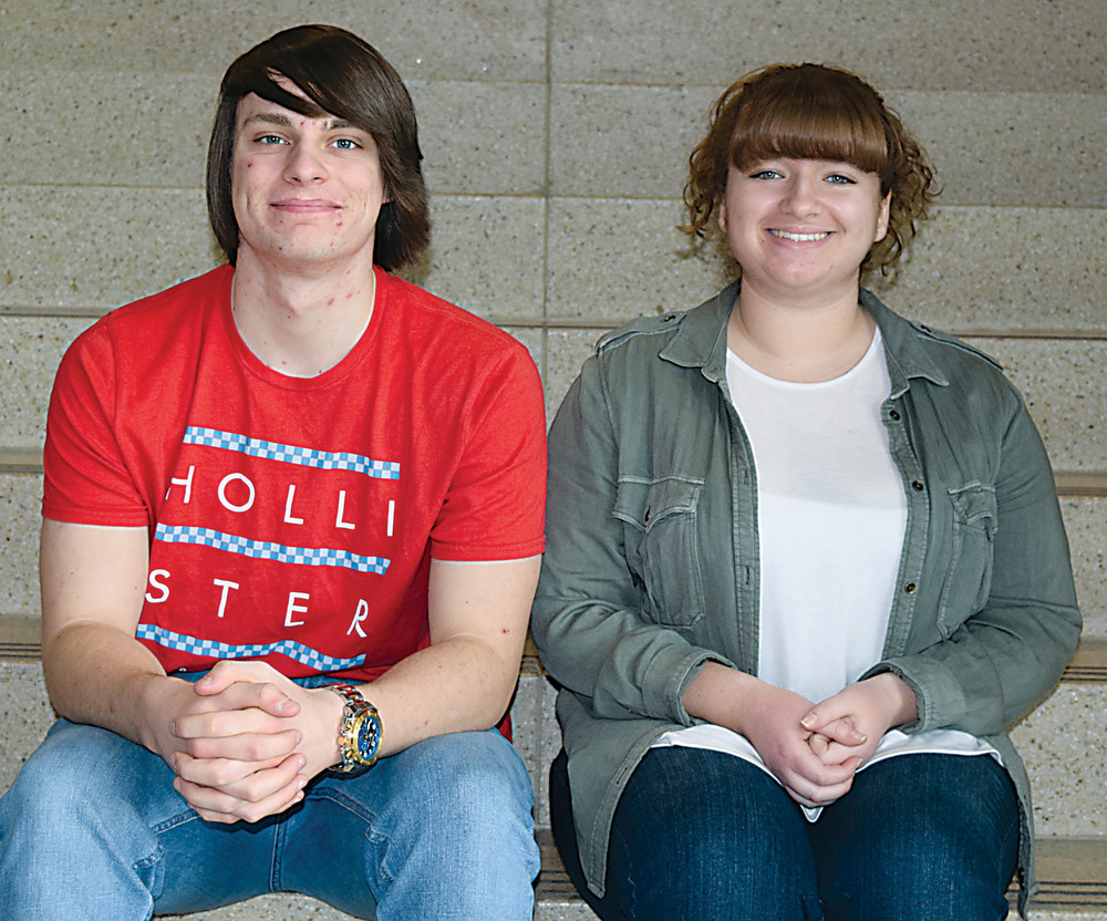 Sarah Fluke, right, will take part in the PMEA All-State Chorus next month. Aaron McDevitt, left, was picked for district chorus but plays clarinet as well.