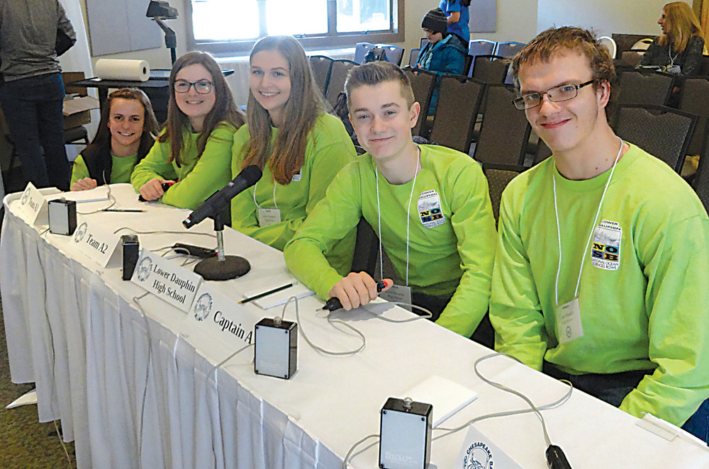 Lower Dauphin students competing in the Chesapeake Bay Bowl were Michelle Yohe, Kelly Barr, Emily Scholfield, Owen Coonelly and James Rodgers.