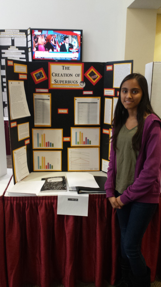 Aayushi Patel won first place in the Medicine and Health category.