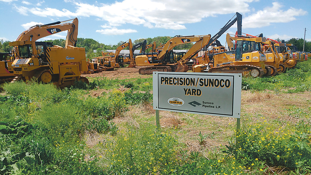 Construction equipment stands ready last summer along Fulling Mill Road in Lower Swatara Township, preparing for the Mariner East 2 pipeline project. It will stretch across the entire state, about 350 miles, and cost about $2.5 billion.