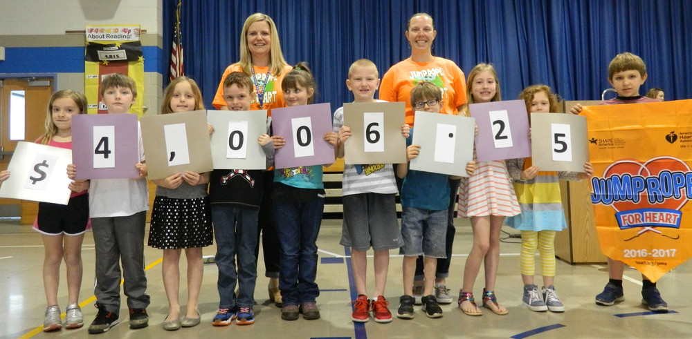 Londonderry Elementary School students contributed $4,006.25 to Jump Rope for Heart during the month of February. The students learned about heart health and new ways to use a jump rope while earning money for this worthy cause for the American Heart Association.