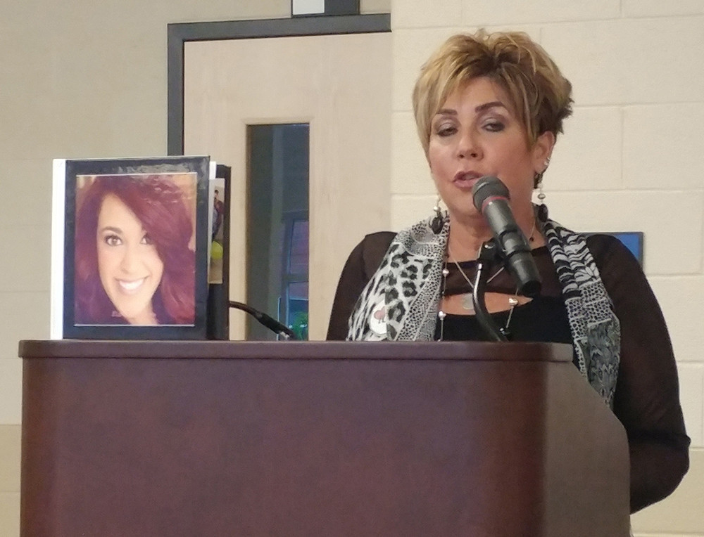 Wendy Loranzo shared with the audience the story of her late daugher, Liz, and how she passed away after an overdose in March.