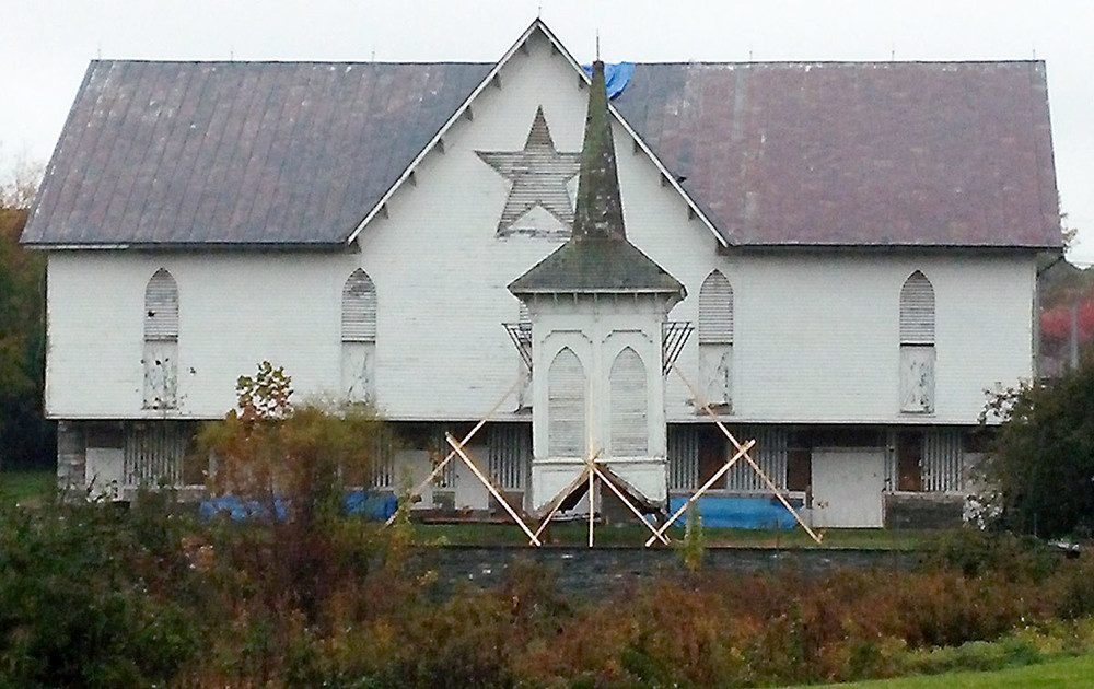 The Star Barn's move to Lancaster County from Lower Swatara Township officially began with the removal of the structure's cupola on Tuesday, Oct. 27, 2015.
