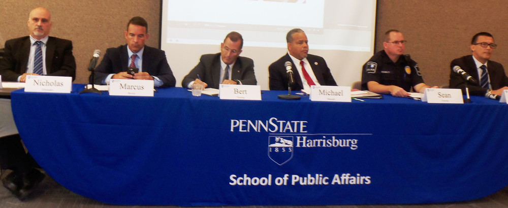 """Penn State Harrisburg's School of Public Affairs hosted a panel discussion, """"How Homeland Security Evolved and Where We Are Now"""" on Monday at the campus in Lower Swatara Township. The event coincided with the 16th anniversary of the terrorism acts that changed the face of our nation."""