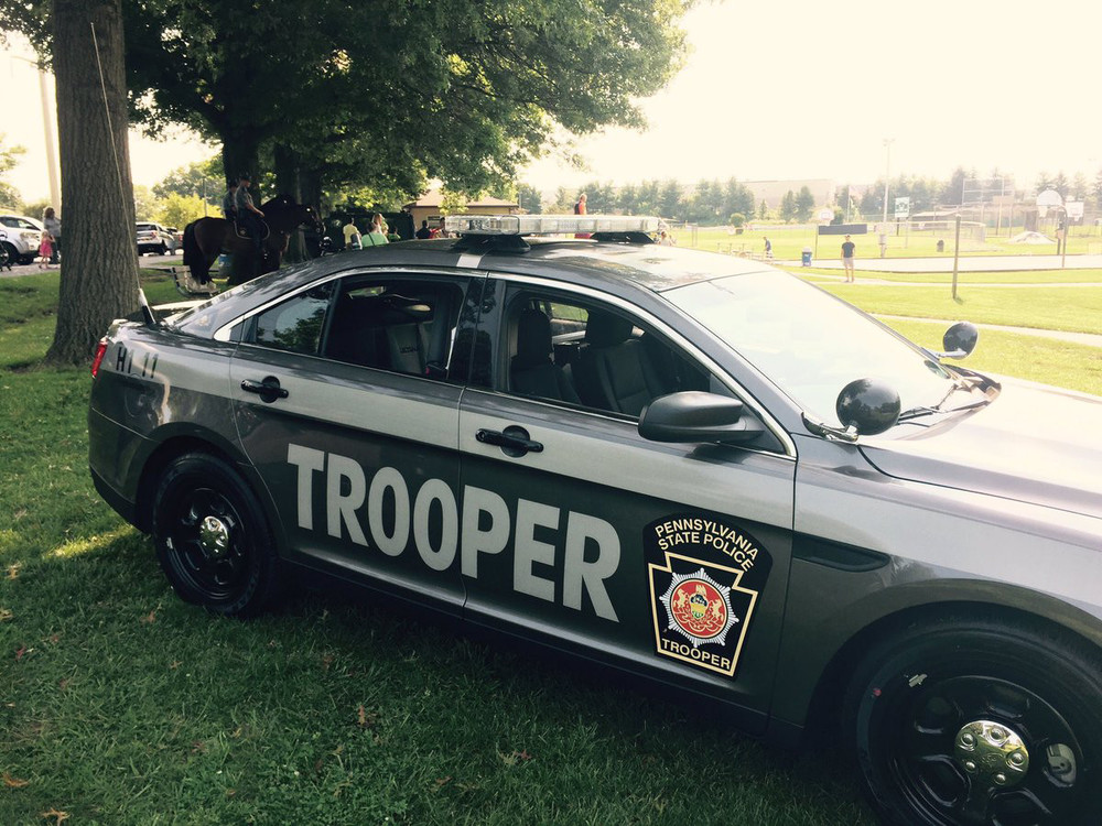 One of the new gray-color scheme Pennsylvania State Police patrol vehicles was on display at the PSP station near Carlisle recently. The Carlisle station is the first PSP station in the Troop H region to have both the current color scheme and new gray-color scheme vehicles in its fleet, PSP says.