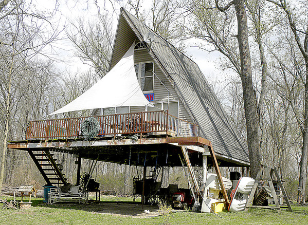 This spring 2016 file photo shows a summer cabin on Shelly Island.