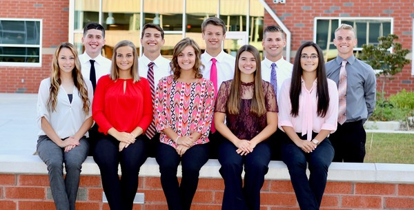The Middletown Area High School Homecoming Court is, front row, Alayna Thomas, Ashley Barni, Veronica Miller, Keely Lombardi and Madison Garber. Second row, Thomas Einolf, Justin Shaffer, David Alcock, Matthew Schopf and Jacob Spear.