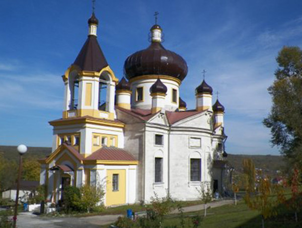 This church is part of a monastery in Orhei.