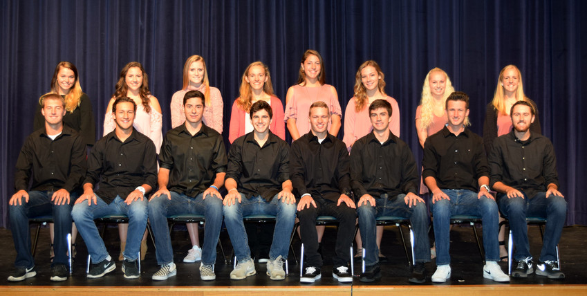 Lower Dauphin recently marked Homecoming. The court, back row, from left, is Meredith Atkins, Kamryn Fridey, Olivia Friedrich, Ella Hickey, Rory Klingensmith, Amelia Marcavage, Kourtney Whittington and Paige Zewe. Front row: Jackson Becher, Connor Buggy, Aidan Klassen, Josh Saufley, Clay Spencer, Zach Stoner, Derek Wyld and Garrett Wylie.