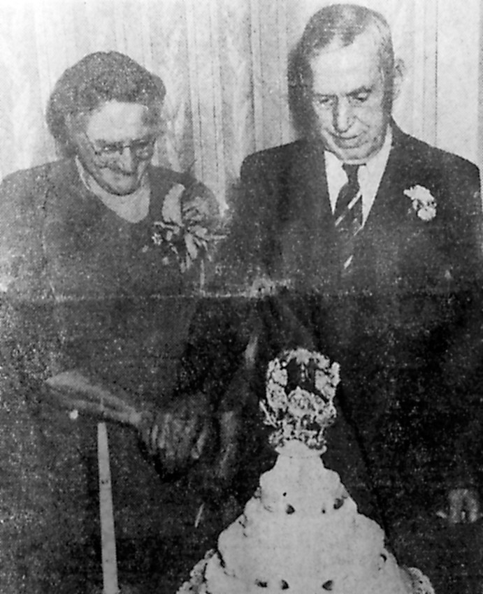 Mr. and Mrs. James A. Campbell Sr. of 6 W. Main St., Hummelstown, celebrated their 50th wedding anniversary on Jan. 8, 1950, at the home of Mr. and Mrs. James A. Campbell Jr. of 158 Ann St., Middletown. The Campbells were married on Jan. 8, 1900, by the Rev. John Groff of Middletown Presbyterian Church. Mr. and Mrs. Campbell are the parents of nine children, five of whom are living: Mrs. John Wanamaker of Elizabethtown, Mrs. Robert Fenner of Hummelstown, Mrs. Walter Herring of Harrisburg, James A. Campbell Jr. and Paul D. Campbell of Middletown. There are 17 grandchildren and four great-grandchildren. A luncheon was served to approximately 70 guests. Many very nice cards and gifts were received.