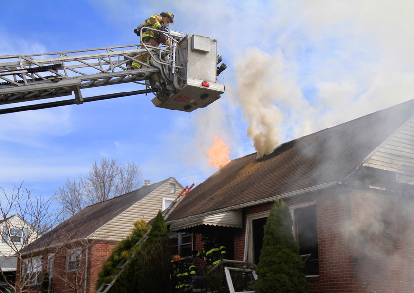 Fire struck a home on East Roosevelt Avenue on Monday, March 19.
