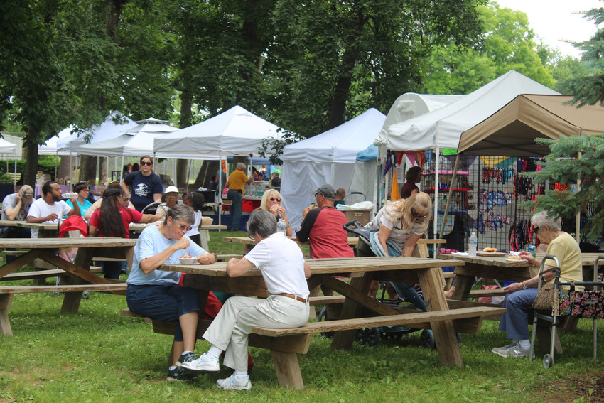 People flocked to Hoffer Park on June 9, 2018, for the annual Arts & Crafts Fair.