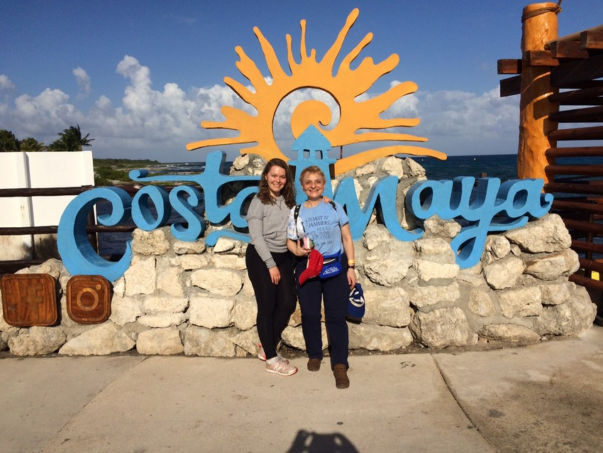 Susannah Gal and her daughter, Christine Baxter, enjoy Costa Maya, Mexico.