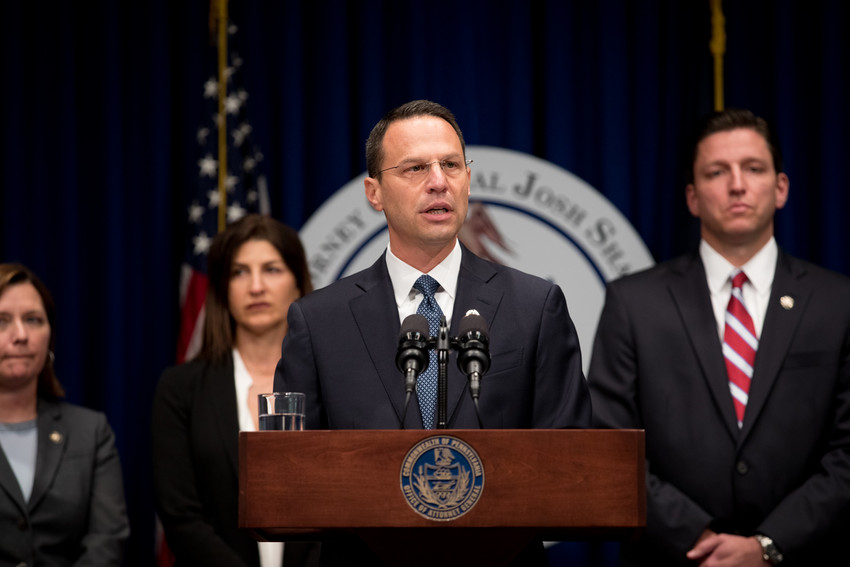 Attorney Josh Shapiro announces findings in the grand jury report on child sex abuse by Catholic priests in six Pennsylvania dioceses on Aug 14.