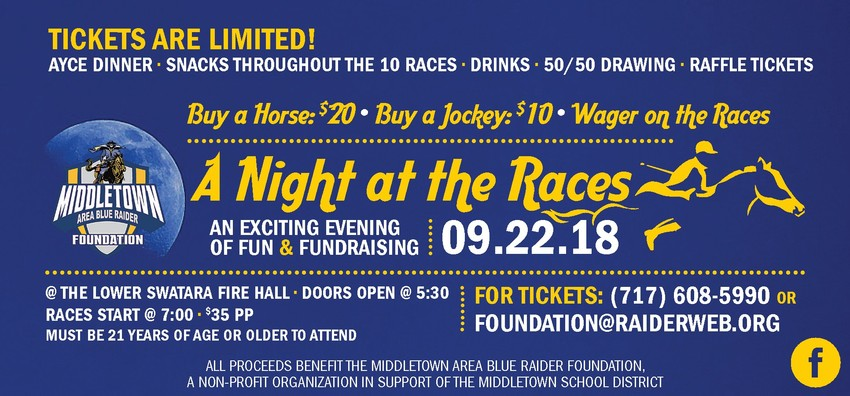 This Night at the Races ad includes the initial date of Sept. 22, 2018.