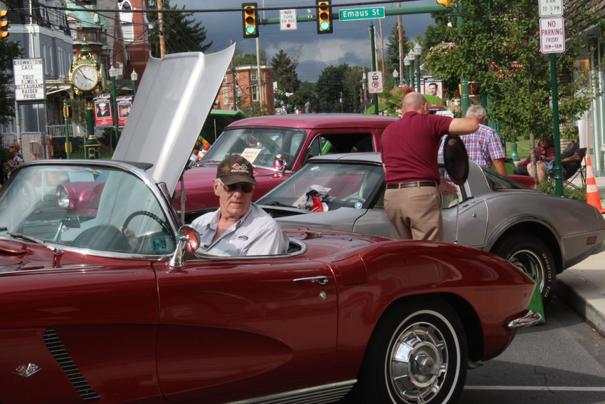 Richard Gallmann parks his 1962 Corvette on North Union Street during Kuppy's Diner Cruise-in on Sept. 13, 2018.