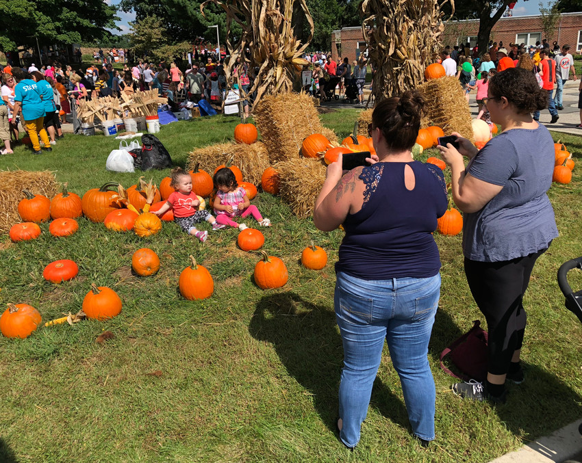 There were plenty of photo opportunities at Pumpkin Fest on Sept. 16, 2018, at the Middletown Home.