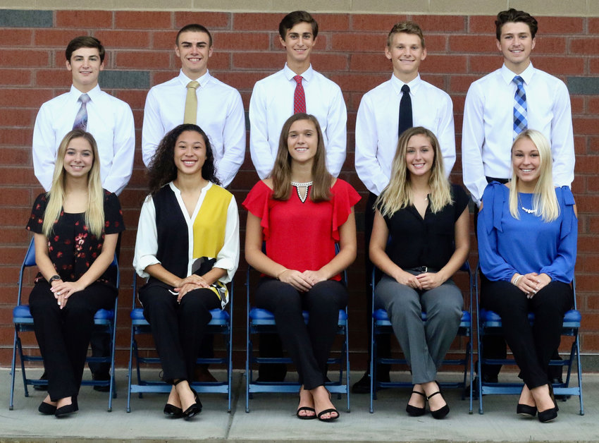 The Middletown Area High School Homecoming court recently was announced. In the front row, from left, area Abrielle Spagnolo, Hayli Akakpo-Martin, Alexandria Kennedy, Jade Senior and Hannah Wilsbach. The back row, Ryan Berstler, Tanner Albright, Aiden Sessa, Benjamin Knisely and Jaxson Senior.