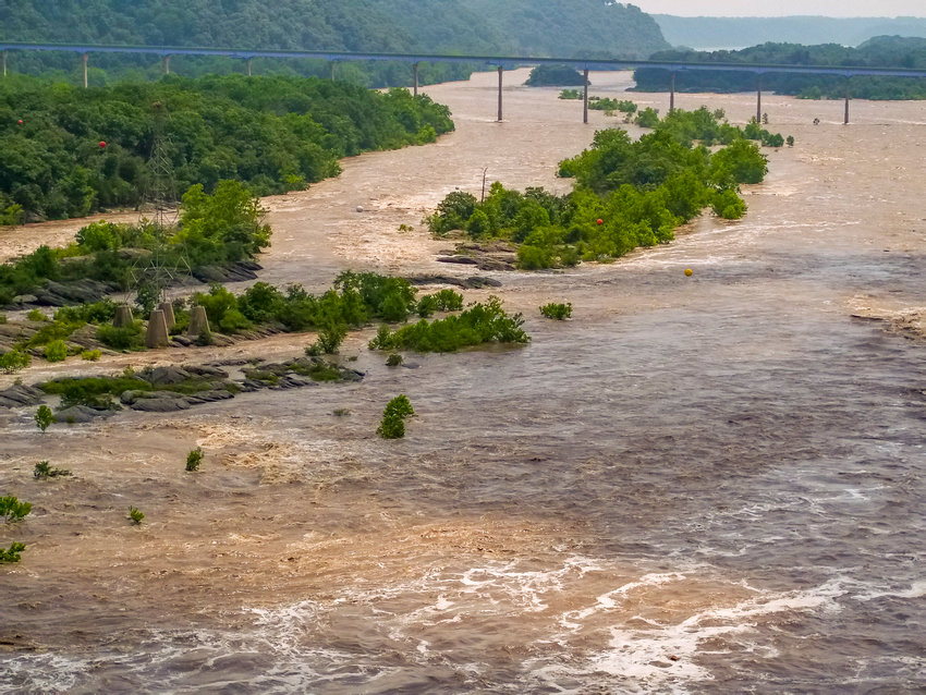 The Susquehanna River is a chocolate-tinted torrent after prolonged summer rains. Trees can stem the tide of rushing waters that create so much flooding damage. Upon maturity, 10 million new trees could mean 500 million to 110 billion gallons of precipitation are slowed, spread out and absorbed or evaporated.