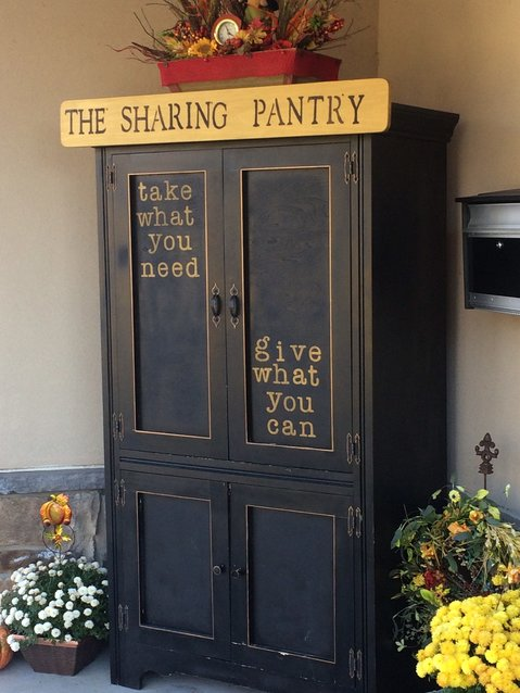 The Sharing Pantry is in the front of the Middletown Police Department.