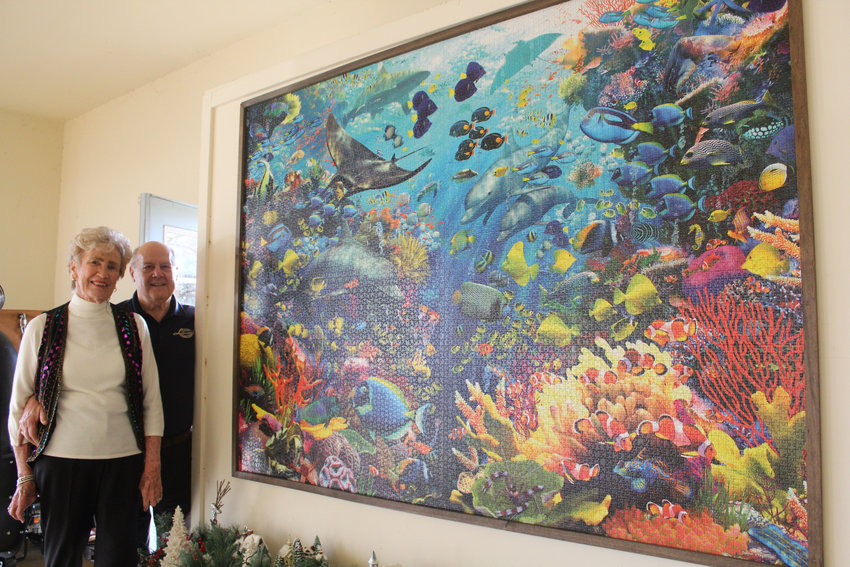 Tom and Judy Librandi were gifted a 9,000-piece puzzle for Christmas last year by their son and daughter-in-law. It took them six months to complete it.