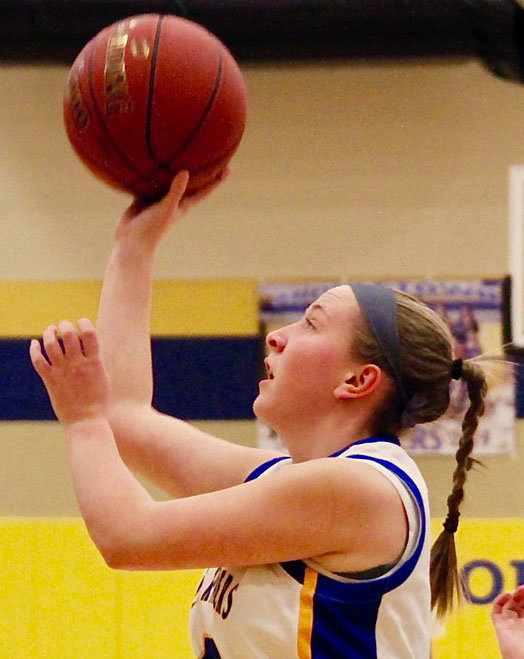 Kate Fitzpatrick puts up a shot during a Feb. 4 loss to West Perry.