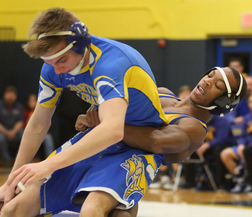 Chris Joseph of Middletown took on Ethan Walmer of Northern Lebanon on Wednesday, Jan. 30.
