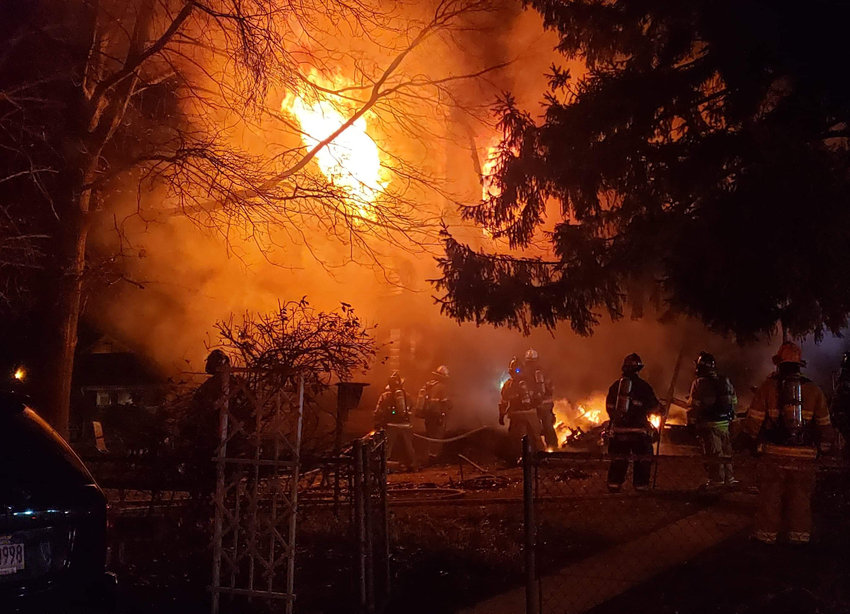 A fire heavily damaged a residence in the 200 block of State Street, Middletown, late Monday. No one was injured.
