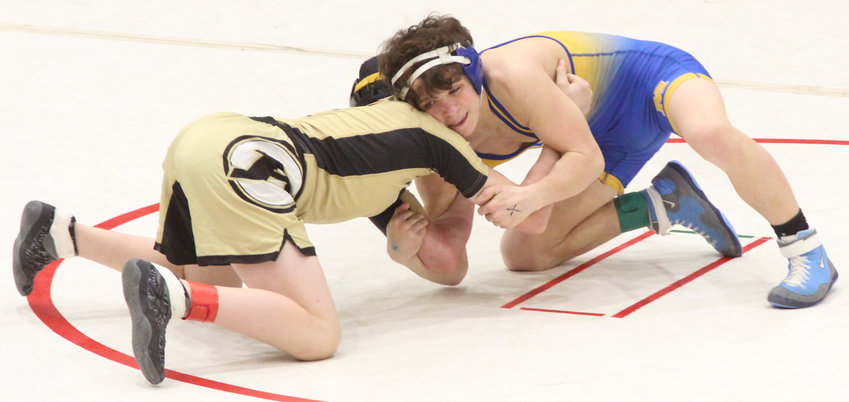 Middletown's Luke Fegley defeated Ethan Slaybaugh of Biglerville in the PIAA Class 2A Southeast Regionals last weekend at Wilson High School in Reading.