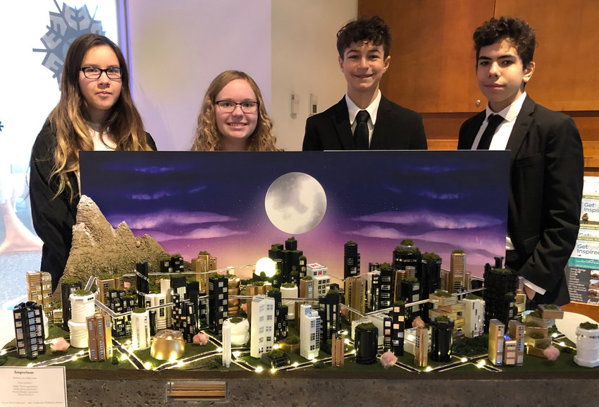 Alyssa Foreacre, Aurora Demko, Nolan Sessa and Aidan Torres were the Middletown Area Middle School team that took second in Future Cities.